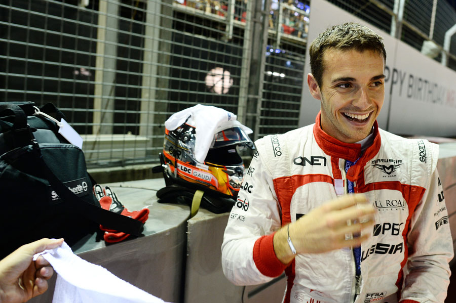 Jules Bianchi looks relaxed ahead of the race