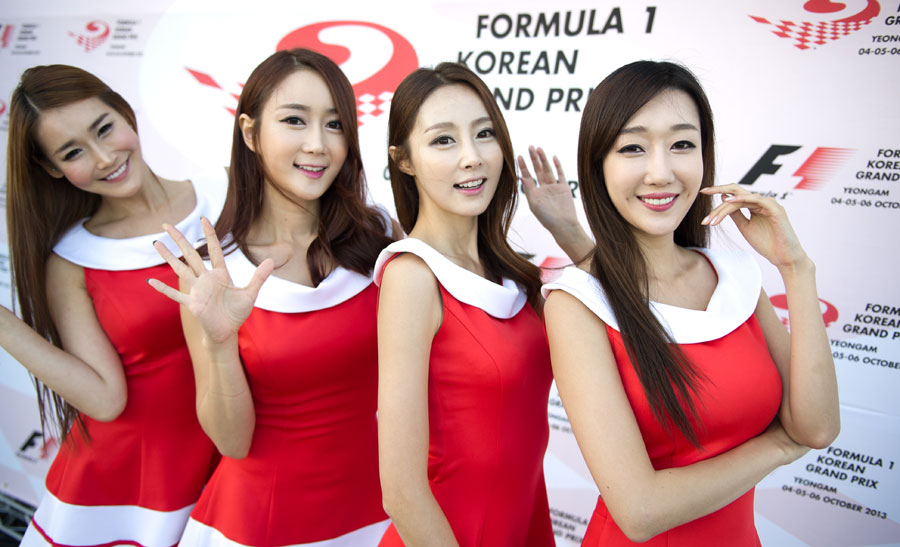 Grid Girls at the circuit