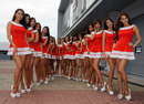 Grid girls prepare ahead of the race