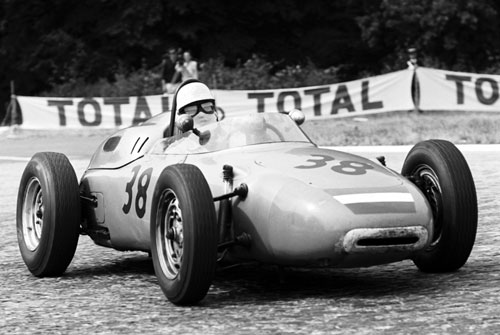 Carel Godin de Beaufort in his Porsche 718 at French GP