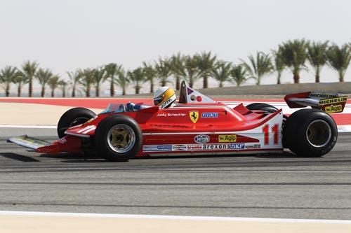 Jody Scheckter drives his 1979 Ferrari 312T4
