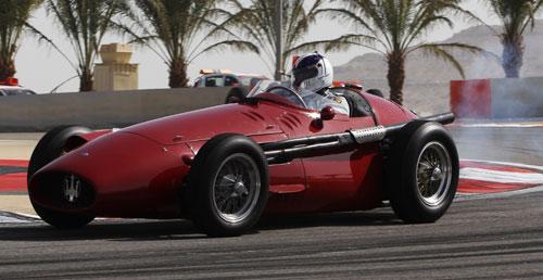 Juan Fangio II in a Maserati