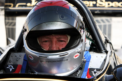 Mario Andretti in his 1978 Lotus 79