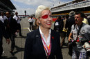 Maria de Villota on the grid before the race