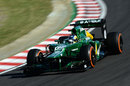 Charles Pic guides his Caterham around Suzuka