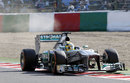 Nico Rosberg runs slightly wide