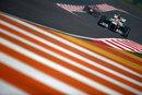 Adrian Sutil leads Sebastian Vettel on track