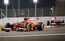 Felipe Massa leads Ferrari team-mate Fernando Alonso
