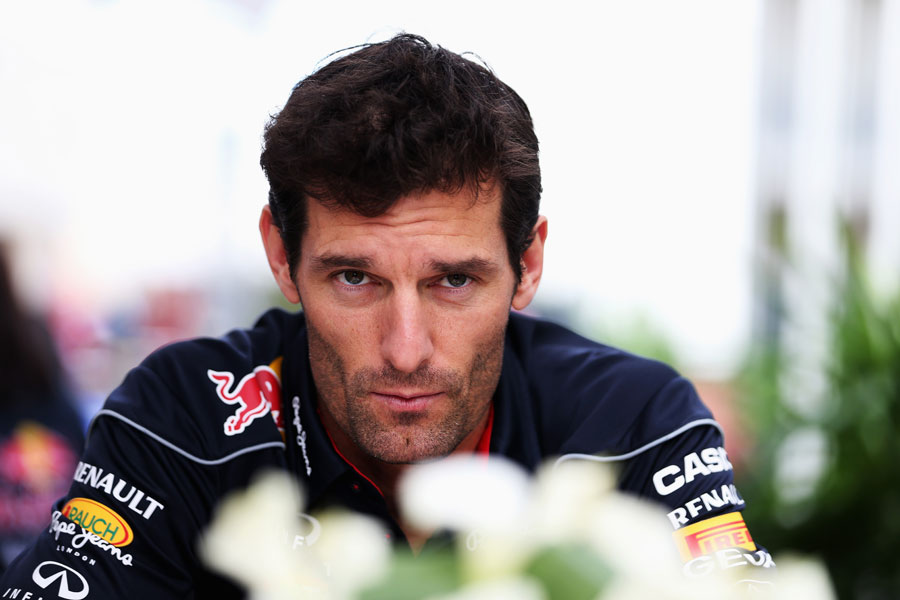 Mark Webber in the paddock