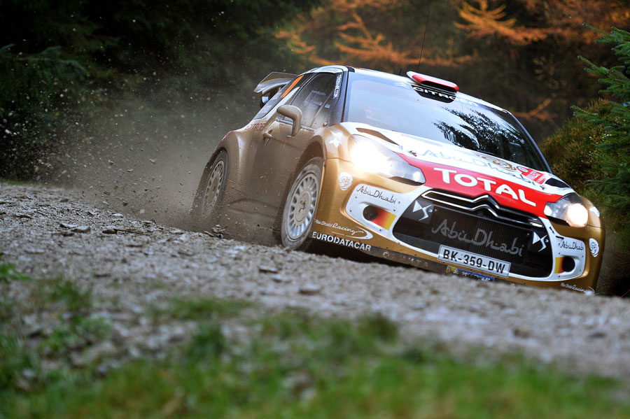 Robert Kubica in action at Wales Rally GB