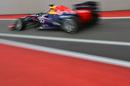 Sebastian Vettel on his way to pole