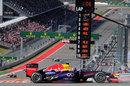 Sebastian Vettel leads the pack