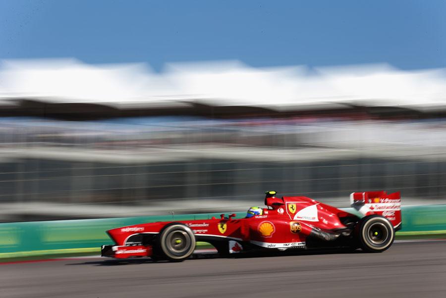 Felipe Massa on the medium tyres