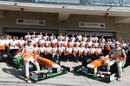 A Force India team photo ahead of the race