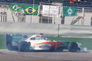Adrian Sutil spins and loses places at the start