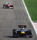 Sebastian Vettel leads the way