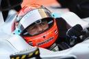 Michael Schumacher prepares to drive