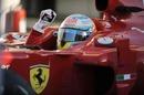 Fernando Alonso celebrates his win