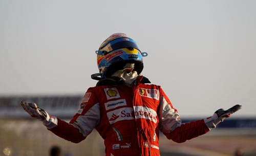 Fernando Alonso is pleased with his win