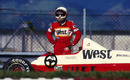 Martin Brundle's Zakspeed comes to a stop