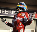 Fernando Alonso celebrates his win