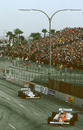 Riccardo Patrese leads the 1981 USA Grand Prix