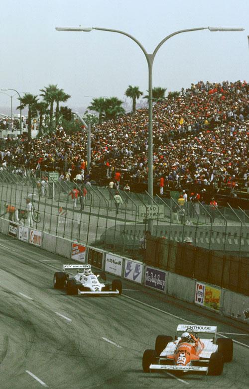 Riccardo Patrese leads the 1981 USA Grand Prix