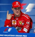 Michael Schumacher secures pole position for the 2002 Malaysian Grand Prix