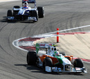 Tonio Liuzzi leads Rubens Barrichello