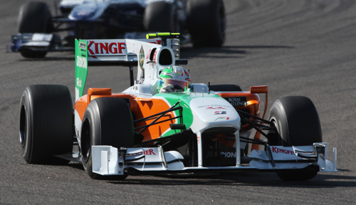 Tonio Liuzzi in action in Bahrain