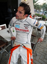 Tonio Liuzzi relaxes after the end of the race