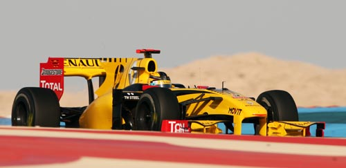 Renault's Robert Kubica during the Bahrain Grand Prix