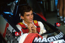 Ayrton Senna on the grid before the 1984 Brazilian Grand Prix
