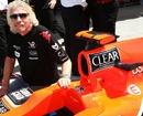 Richard Branson with the Virgin Racing VR-01 on the Bahrain grid