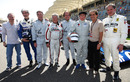 Jacques Villeneuve, Damon Hill, Nigel Mansell, Mario Andretti, Emerson Fittipaldi,   Jackie Stewart, Alain Prost, and Jody Scheckter
