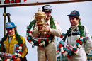 Rene Arnoux, race winner Clay Regazzoni and Jean-Pierre Jarier