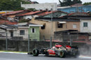 Romain Grosjean climbs up the hill out of Juncao