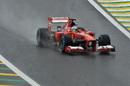 Fernando Alonso prepares to corner