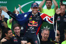 Red Bull says farewell to Mark Webber on the Brazil podium