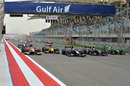 The start of the feature race at Sakhir