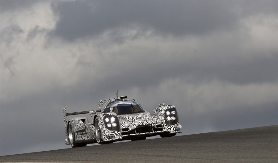 Mark Webber on track in Porsche's LMP1 car