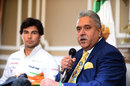 Sergio Perez is announced as a Force India driver for 2014 by Vijay Mallya