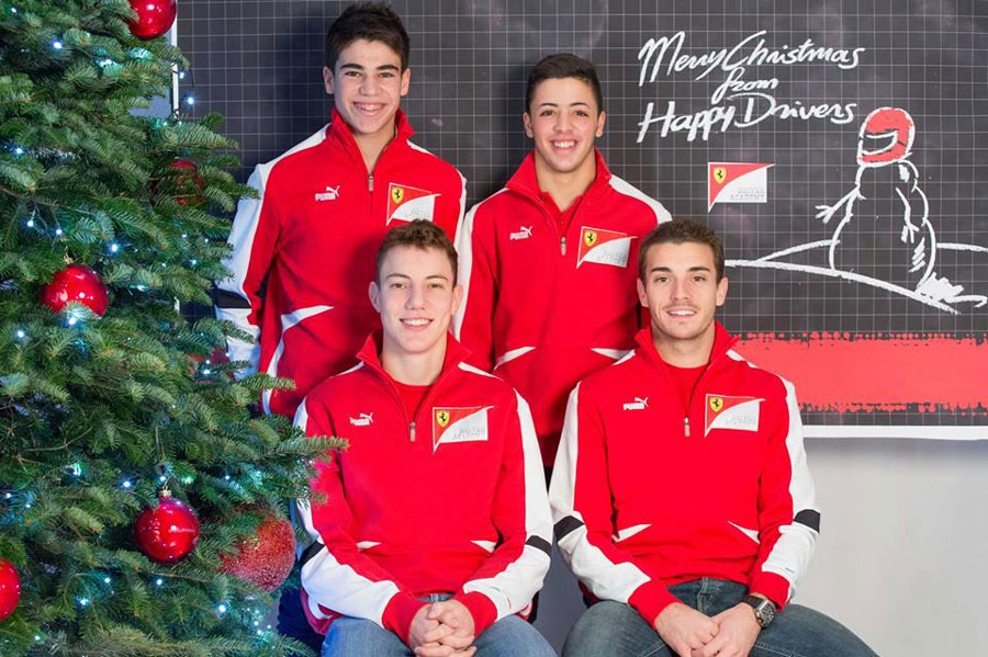 Season's greeting from the Ferrari Drivers Academy