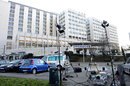 Media equipment outside the Centre Hospitalier Universitaire in Grenoble where Michael Schumacher is being treated for head injuries