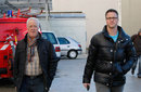 Michael Schumacher's father Rolf and brother Ralf arrive at Grenoble hospital on Sunday