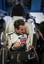 Adrian Sutil carries out his seat fitting at Sauber