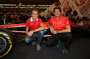 Max Chilton and Graeme Lowdon at the Autosport International Show
