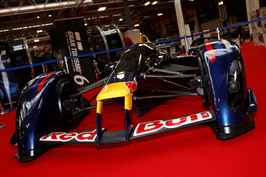 A Red Bull concept car on display at the Autosport International Show