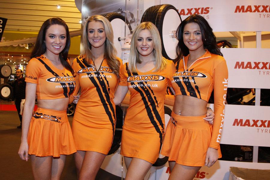 Girls at the Autosport International Show
