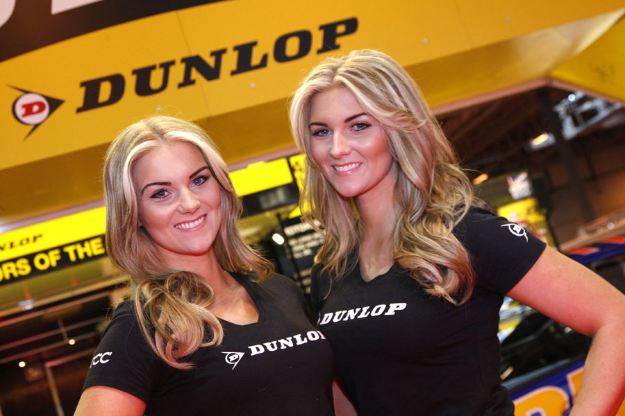 Girls at the Autosport International Show